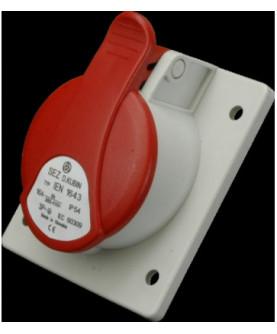 Produkt: ZASUVKA 400V 4P 16A IP44 IEN 1643