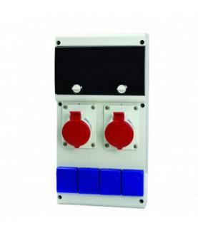 Produkt: SCAME ROZVODNICA 632.33WW-102F2 (2x32A/5p,4x230V),ISTENIE+CHRANIC