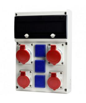 Produkt: SCAME ROZVODNICA 632.X3311-113F2(2x32A/5p,2x16A/5p,3x230V),ISTENIE+CHRANIC